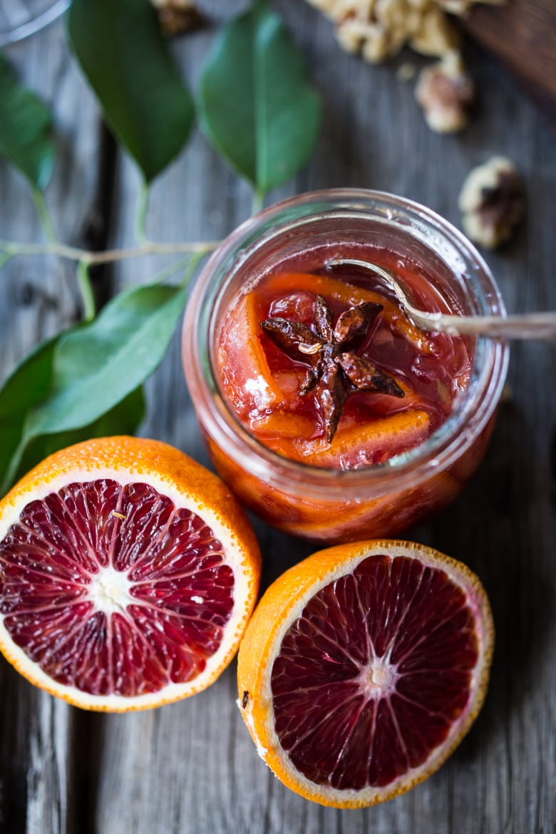 Blood Orange Marmalade with star anise and ginger...perfect on your next cheese board! | www.feastingathome.com