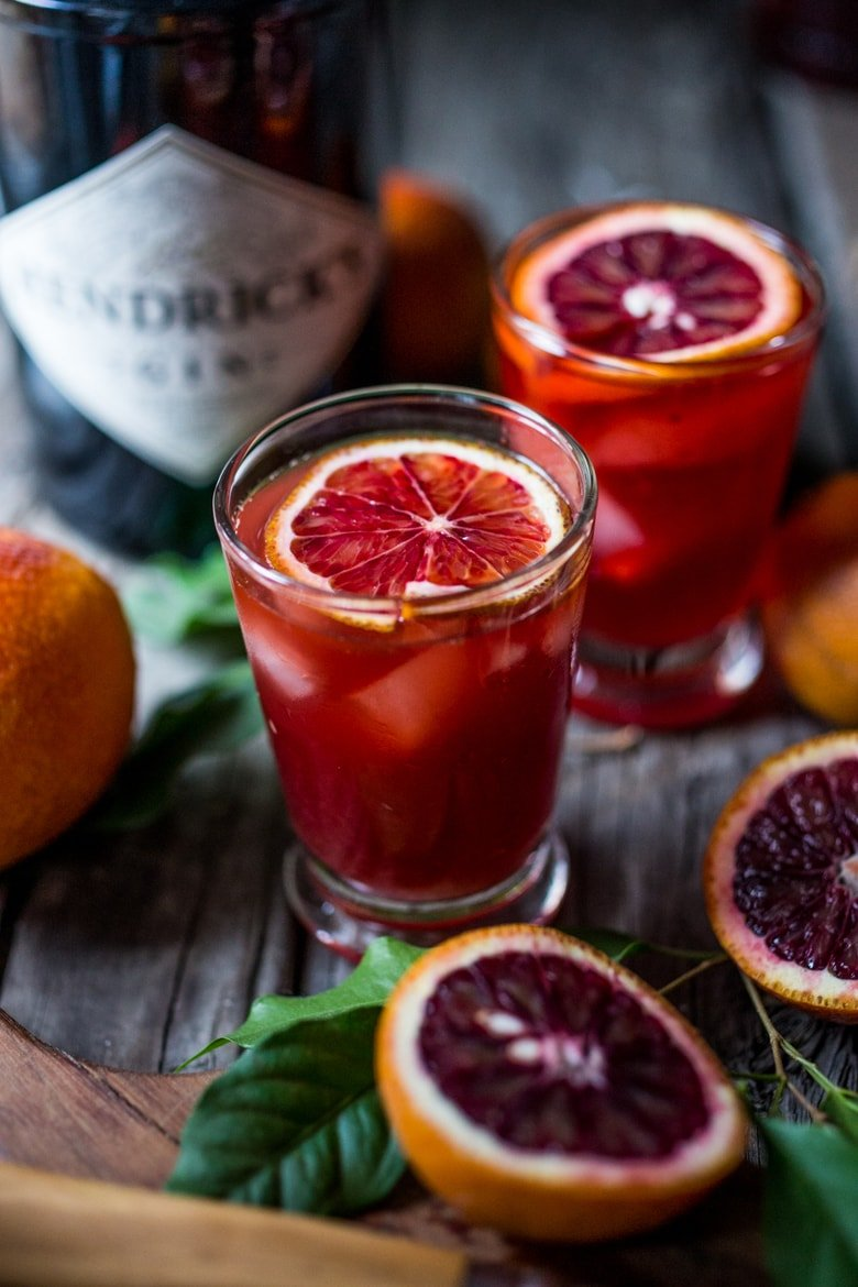 Blood Orange Negroni- a slight twist on the classic, with a splash of Blood Orange juice . | www.feastingathome.com