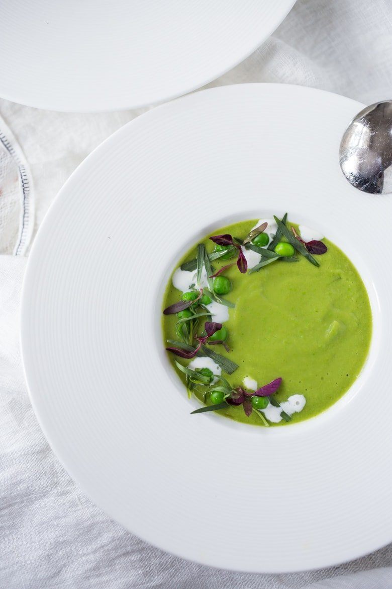 This Spring Pea Soup bridges the gap between winter and spring- using a unique combination of dried split peas with fresh peas. Fennel and Tarragon give it delicious complexity and flavor!