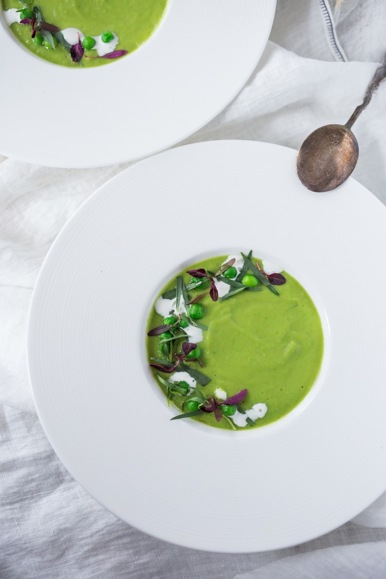 Simple tasty Split Pea Soup with Tarragon and Fennel | www.feastingathome.com