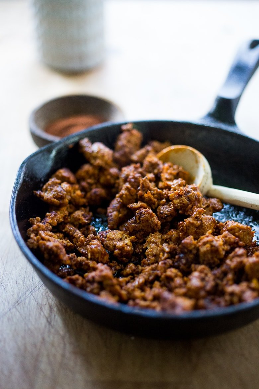 Easy lightend-up Turkey Chorizo | www.feastingathome.com