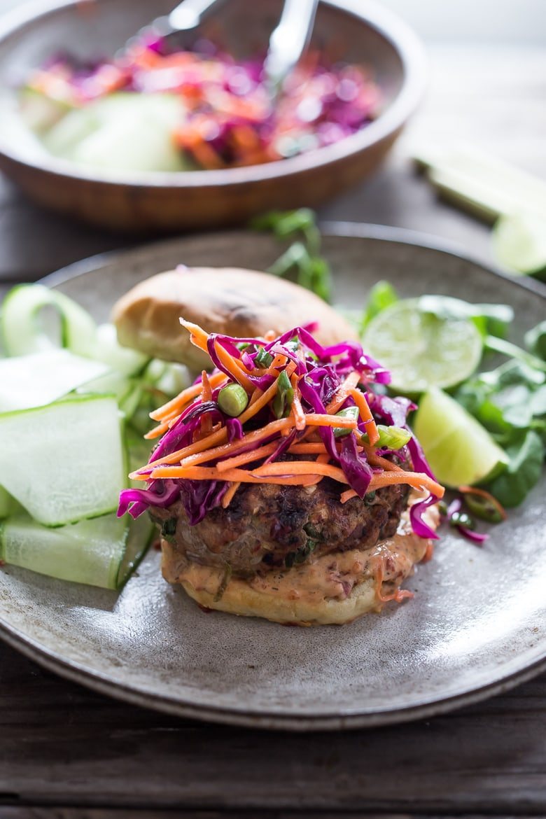 Delicious recipe for Thai Turkey Burgers- with lemongrass, ginger ...