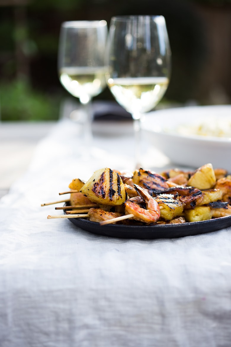 simple tasty recipe for Grilled Pineapple Chipotle Shrimp Skewers ...