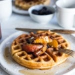 How to make Sourdough Waffles using your leftover sourdough starter! #waffles #sourdough