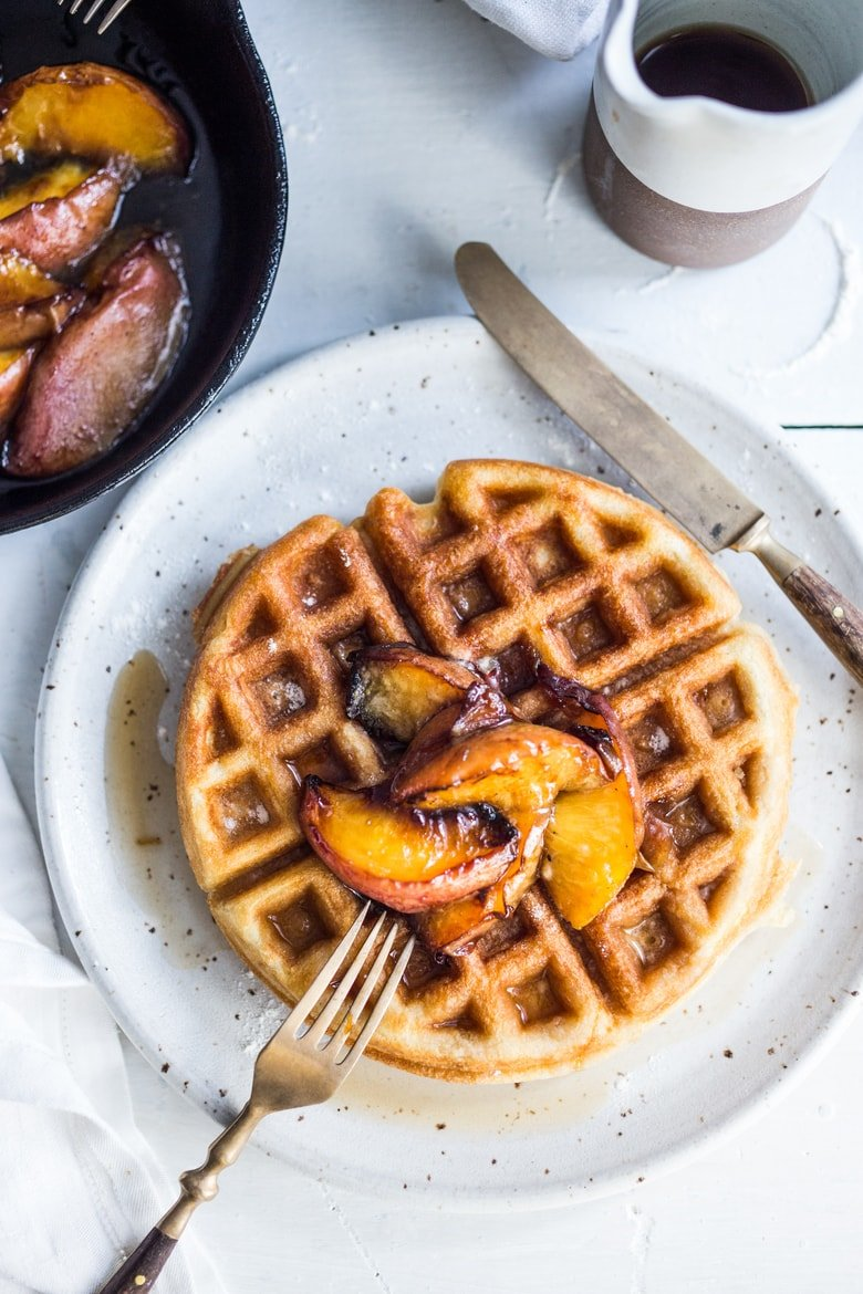 sourdough waffles - what to make with your leftover sourdough starter!