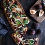 Fig Pizza with Gorgonzola and balsamic onions