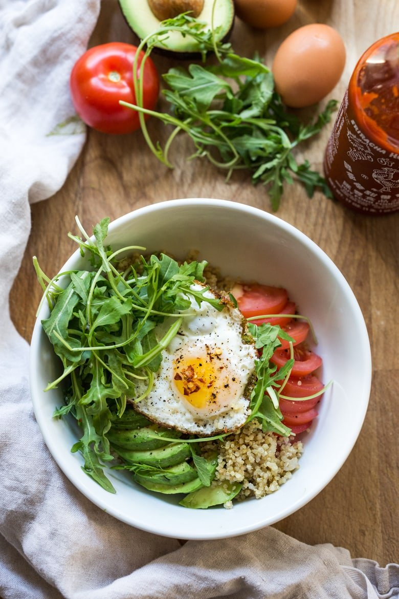 These delicious, healthy make-ahead Breakfast Bowls are full of whole grains and nutrients. Vegan and gluten-free-adaptable.