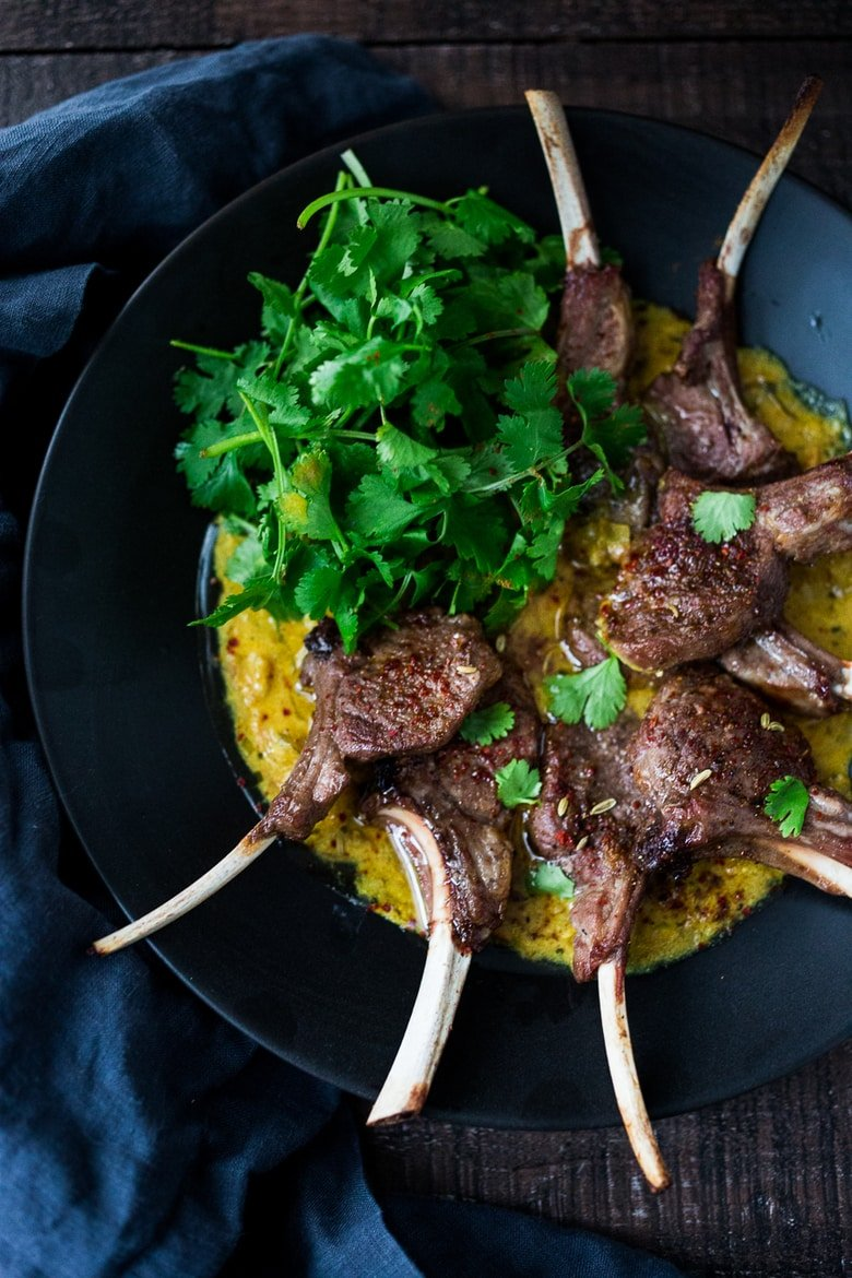 Oven-roasted Lamb Chops with the most fragrant Indian Curry Sauce! A easy flavorful meal that is perfect for special gatherings.