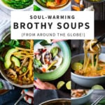 20 Warming Broth-Based Soup recipes to heal, comfort and nurture the body! Healthy, vegan and gluten-free options! #brothbased #brothysoup #bonebroth #brothsouprecipes #bonebrothrecipes #broth #chickensoup #beefbroth #veggiebroth