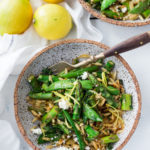 Spring Orzo Pasta with Asparagus, Lemon and Dill- serve this warm as quick flavorful entree or chilled as a side salad. | www.feastingathome.com