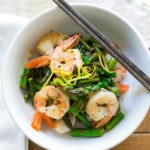 Lemon Basil Shrimp and Asparagus