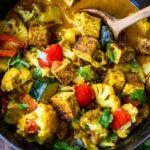 Vegan tikka masala with your choice of tofu, paneer or chickpeas in a flavorful Indian tikka masala sauce.