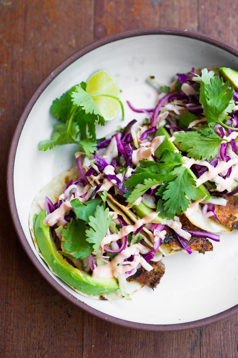 Quick Grilled Fish Tacos with Cilantro Lime Cabbage Slaw+ 15 DELICIOUS SUMMER GRILLING RECIPES !