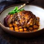 Sheet-Pan Harissa Chicken and Sweet Potatoes