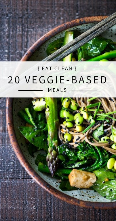 EAT CLEAN with these delicious 20 VEGGIE-BASED Meals - all vegan and gluten-free adaptable! | www.feastingathome.com #vegan #salad #glutenfree #eatclean #cleaneats #cleaneating #gluten-free #detox #plantbased #clean-eating