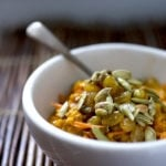 Carrot Cake Oatmeal... a delicious bowl of comfort food - vegan and GF! | www.feastingathome.com