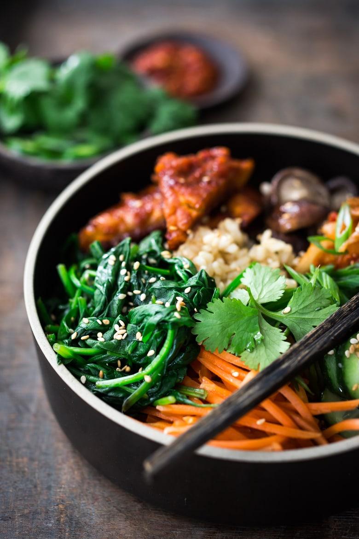 bibimbap recipe vegan with tempeh