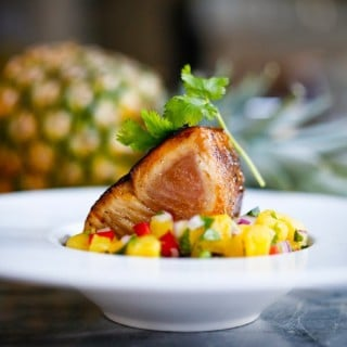 Seared Ono With Honey Soy Glaze And Pineapple Salsa Feasting At Home