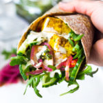 Weeknight Dinner Idea! Sheet-Pan Shawarma- made with your choice of chicken or tofu, and lots of healthy veggies. Turn these into wraps or bowls! PLUS 10 Sheet-Pan Dinner to Make life simple! #sheetpandinners #onepanmeal #weeknightdinner #shawarma #Baked