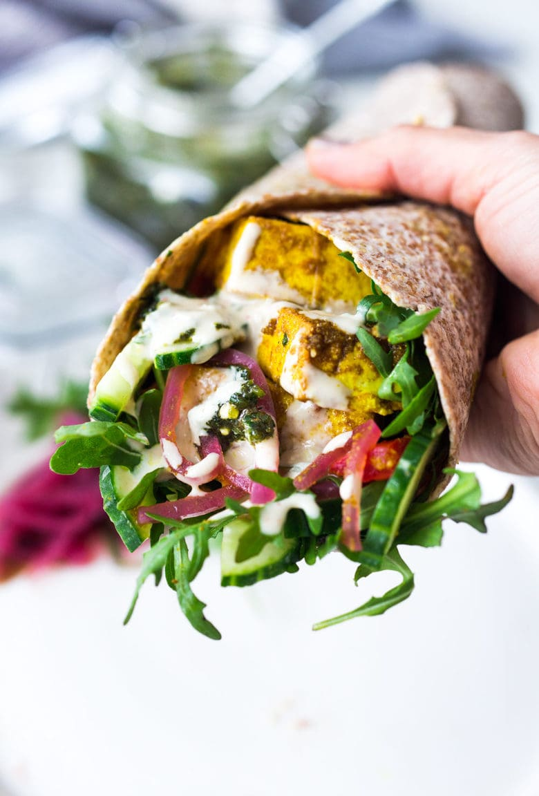 sheet pan shawarma wraps