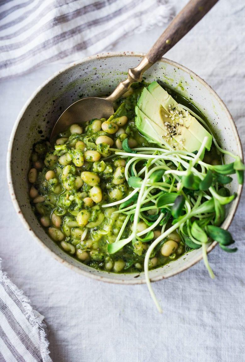 vegan Cassoulet vert