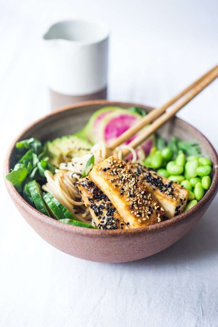 Zen noodles-a vegan adaptable asian style bowl that is healthy and full of flavor!