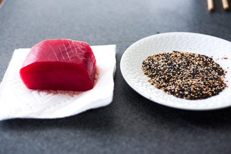how to seared ahi tuna