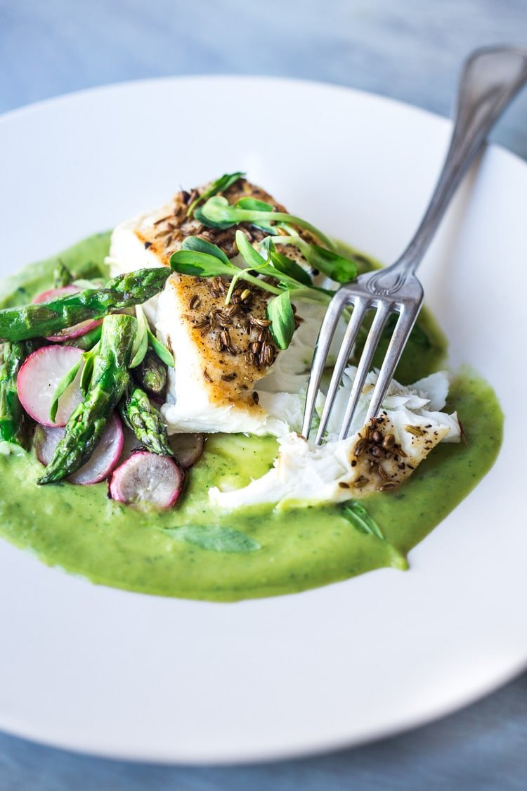 halibut recipe with asparagus
