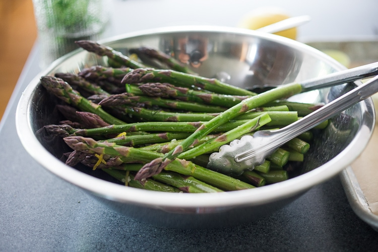 roasted asparagus with tarragon