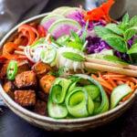 vegan bahn mi noodle bowl