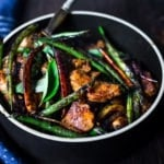 A flavorful recipe for Fiery Burmese Chicken (or tofu) and veggies based on our visit to Burma Superstar Restaurant in SF. Simple and incredibly delicious!