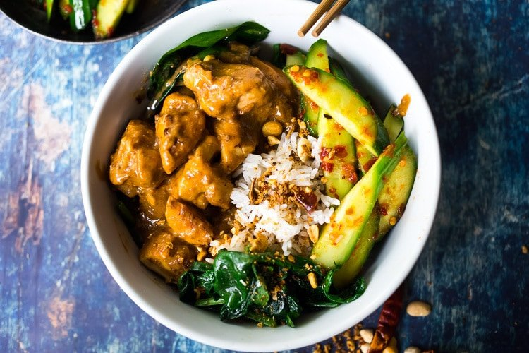 Simple Delicious Instant Pot Peanut Chicken Feasting At Home