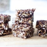 healthy vegan crispy treats made with almond butter and seeds