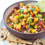 This Fresh Peach Salsa recipe is bursting with summer flavor! Delicious on its own with chips or serve over grilled fish or chicken. Simple and easy, make this when peaches are at their peak of flavor -fresh, juicy and ripe. #peachsalsa #peaches #peach #salsa #peachrecipe #peachsalsarecipe #salsarecipe