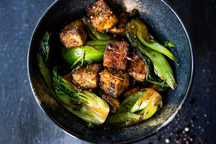 Black Pepper Tofu With Bok Choy Feasting At Home