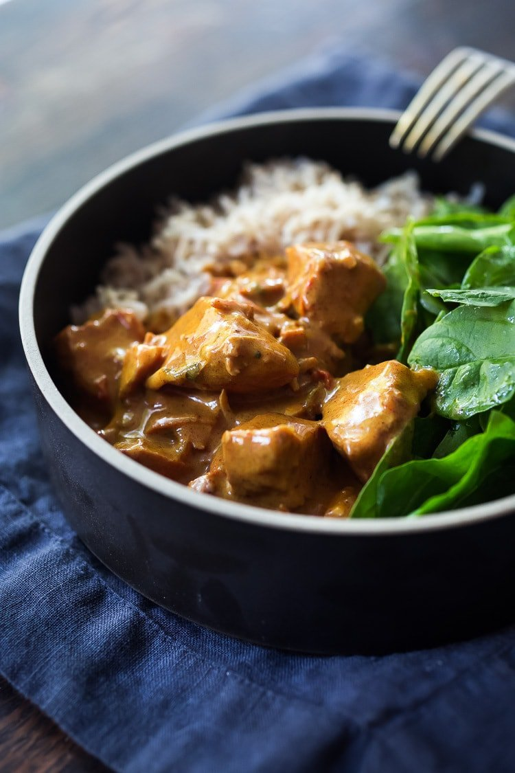 Instant Pot Tikka Masala, made with chicken