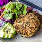 Simple Salmon Cakes made with pantry ingredients, designed for weeknight meals when time is short. Of course fresh salmon always makes for a better salmon cake, but in a pinch, canned salmon, pulled from the pantry can be a life savor! #salmoncakes
