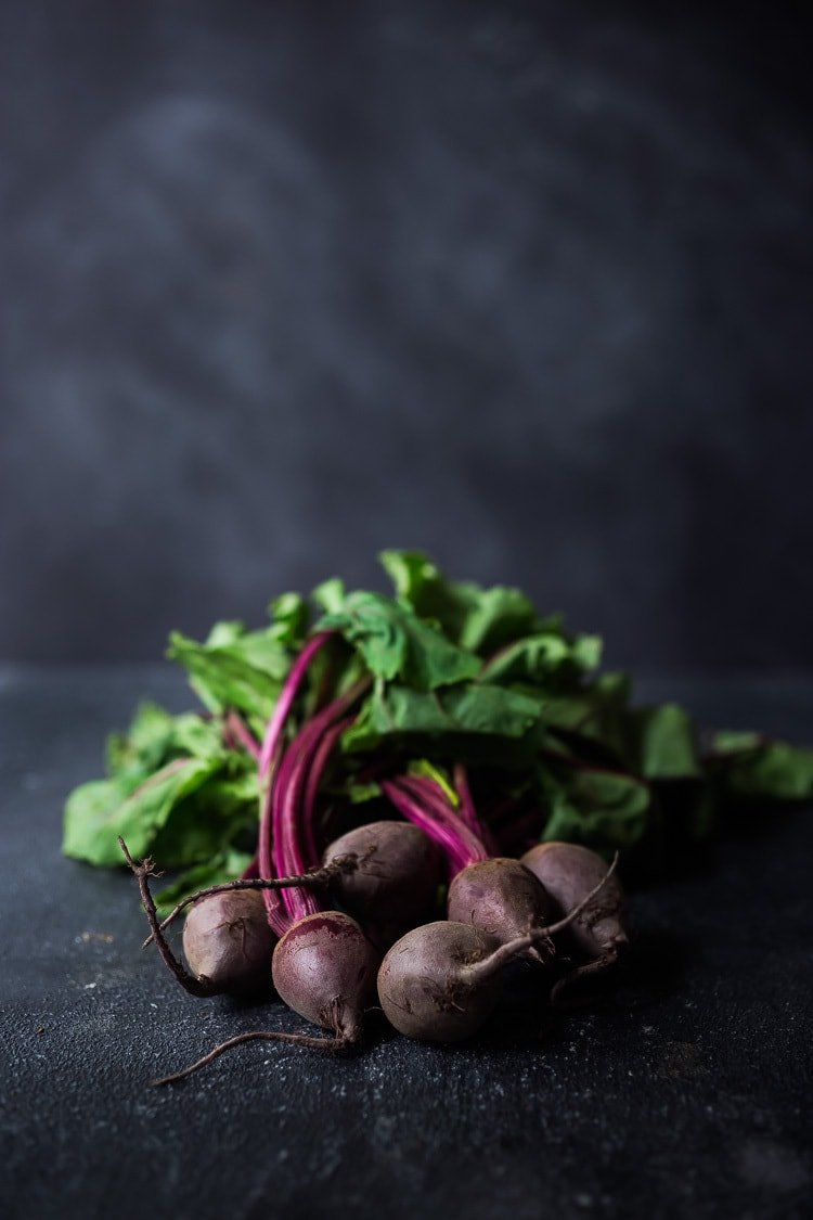 Beet and Farro Salad | A simplefall-inspiredrecipe for Farro Salad with Beets andtheir tops! This healthy, vegan adaptable salad can be made ahead for midweek meals and can be served warm or chilled.#beetsalad #fallsalad #vegansalad #farrosalad #farro #beets