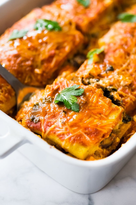 Vegetarian Polenta lasagna