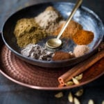 A simple homemade Garam Masala Recipe that can be made in 10 minutes - with ground fragrant spices you already have in your pantry. Easy, healthy and authentic! #garam #garammasala #curry #masala #spices #indianspices #indianrecipes #authenic #masalaspice #indiancurrypowder