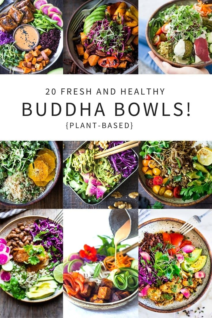 How to Build a Buddha Bowl plus 20 Buddha Bowl Recipes! Globally inspired, plant-based, vegan-adaptable and full of healthy vegetables, these nourishing vegetarian bowls will keep you energized and satisfied. #buddhabowl #buddhabowls #healthybowls #veganbowl