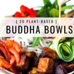 20 healthy vegan Buddha Bowls that are full of healthy veggies, over the top delicious and all Plant based. Great for meal prep.