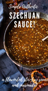Authentic Szechuan Sauce! Use as easy delicious stir-fry sauce or flavorful marinade - preservative-free, msg free, gluten-free adaptable, vegan and full of amazing flavor! Can be made in 5 minutes! #stirfrysauce #szechuan #sauce #stirfry #chinese #recipe #marinade #szechuansauce #szechuanrecipe