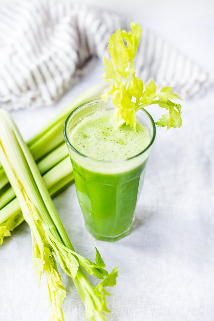 celery juice recipe and top 10 benefits! | feasting at home