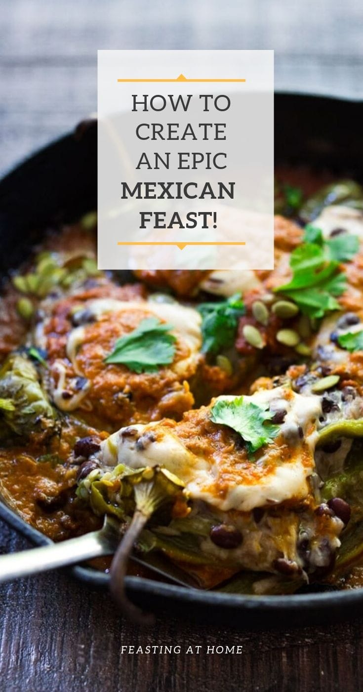 Browse my most popular Mexican Recipes to create your own Mexican Feast! Whether you are celebrating Cinco De Mayo, or having a simple gathering at home, these authentic, flavorful recipes are fun to make, and include many vegan and Gluten-Free options! Pick out a few for your next gathering or potluck!#mexicanrecipes #mexicanfood