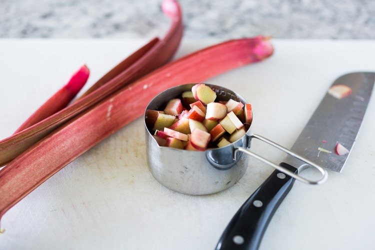 Rhubarb Jam with Chia Seeds and Maple Syrup - a deldious, nutritious jam that is sugar free! #rhubarbjam #chiajam #rhubarb #rhubarbrecipes #paleo #paleojam #sugarfree