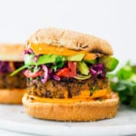 A quick and easy recipe for the best Black Bean Burgers that can be made in under 30 minutes! Vegan adaptable and perfect for weekly meal prep!