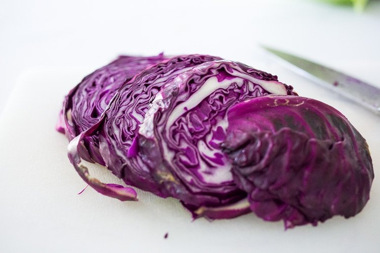 Grilled Cabbage with Andouille Sausage (Vegan adaptable and keto!) a fast and EASY dinner recipe that can be made in 30 minutes! #grill #keto #grilledcabbage #cabbagesteaks #cabbage #vegangrill #grilling #andouillesausage