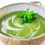 Vibrant, luscious Nettle Soup with Tarragon - a simple easy recipe, full of incredible health benefits and lovely flavor. A Scandinavian specialty to be enjoyed in late spring and early summer when nettles are aplenty. Vegan Adaptable! #nettles #nettlesoup #nettlesouprecipe #vegan #tarragon #healthysoup #springsoup #stingingnettle