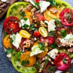 Tomato Walnut Salad with Blue Cheese